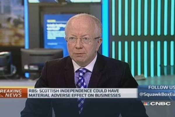 RBS warns on impact of Scottish independence