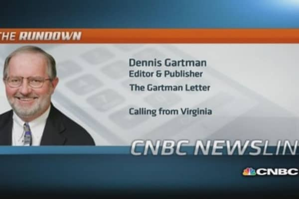 Turning 'modestly bullish' on US stocks: Gartman