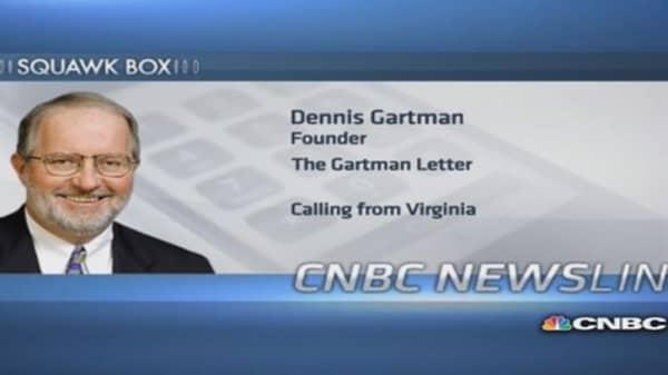 US economy doing 'quietly better': Gartman