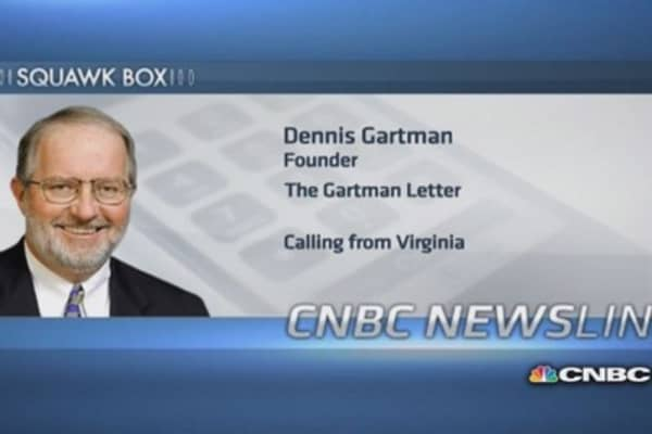 US economy doing 'quietly better': Gartman