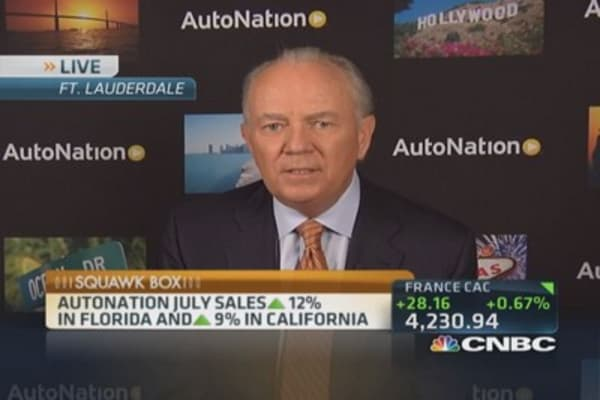 AutoNation July sales up 12%