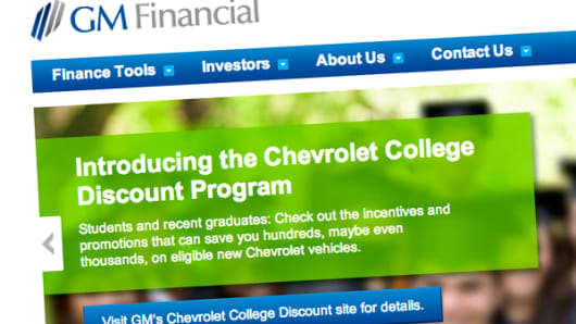GM Financial home page