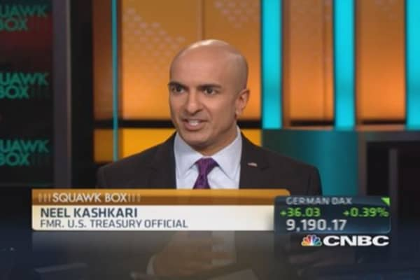 US economy 'living large' on low rates: Kashkari