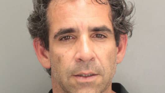 In this booking photo provided by the Miami-Dade Police Department, Anthony Bosch poses for his mug shot April 4, 2012 in Key Biscayne, Florida. Bosch, founder of the Biogenesis anti-aging clinic, was arrested for driving with a suspended license.
