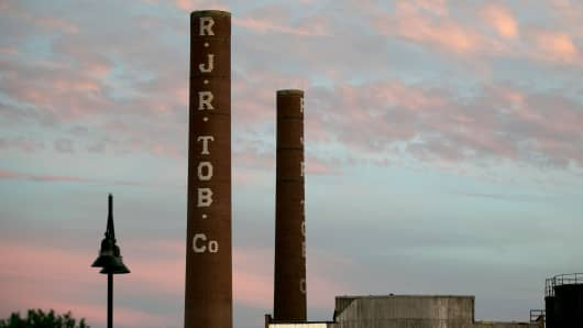 R.J. Reynolds Tobacco smokestacks in Winston-Salem, N.C.