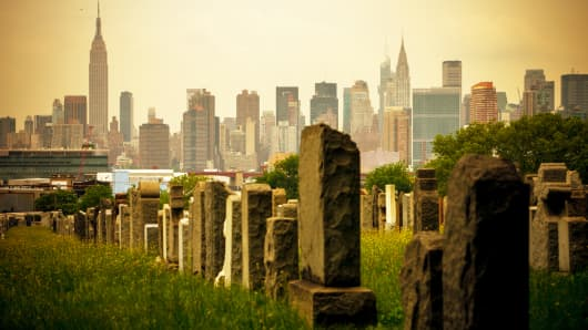 Cemetery in Queens, New York