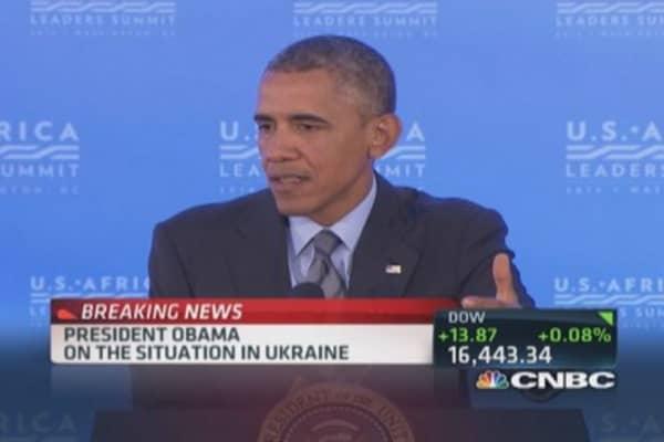 President Obama: Will continue to defend Ukraine