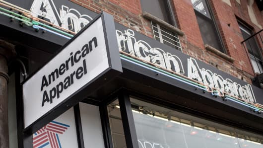 An American Apparel store in New York.