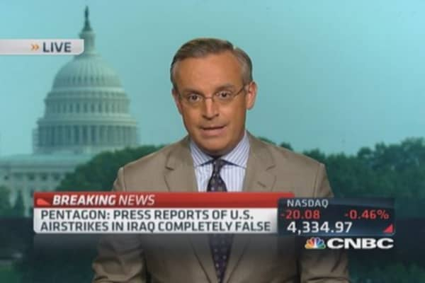 Pentagon denies Iraq airstrikes: Report