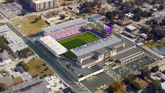 Rendering for the Orlando City Stadium in Orlando, Florida.