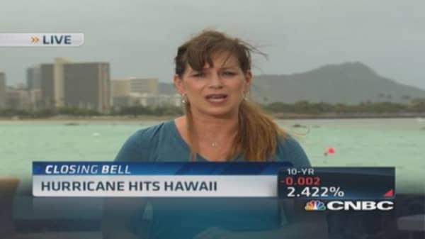 Hurricane hits Hawaii