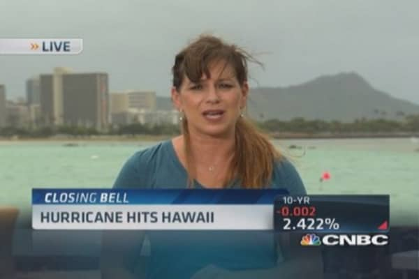 Hurricane hits Hawaii