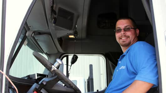 Kerry Contas is a driver for Jetco Delivery, based in Houston.