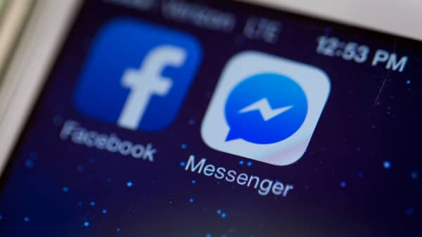 Facebook's Messenger app displayed on a smartphone.