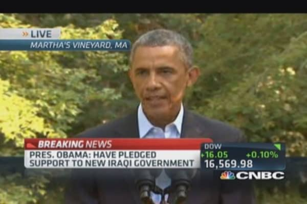 Pres. Obama: Iraq takes a promising step