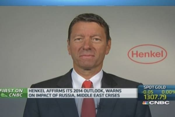 Eastern Europe slowing due to tensions: Henkel CEO