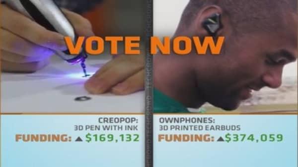 3-D crowdfunding battle