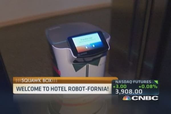 Hotel robots at your service