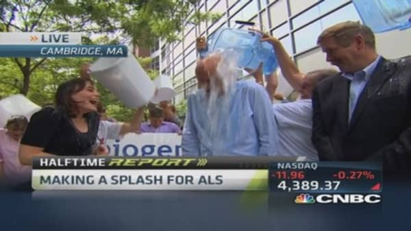 Biogen accepts ice bucket challenge