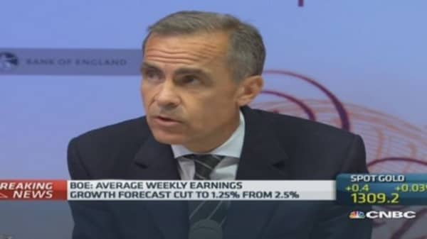 UK wage growth 'remarkably weak': Carney