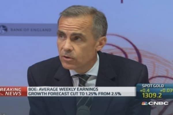 UK wage growth 'remarkably weak': Carney
