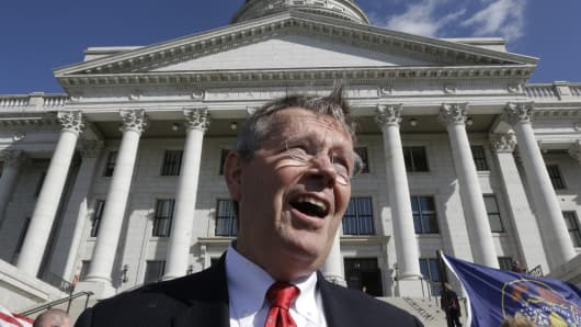 Former Utah Gov. Mike Leavitt.