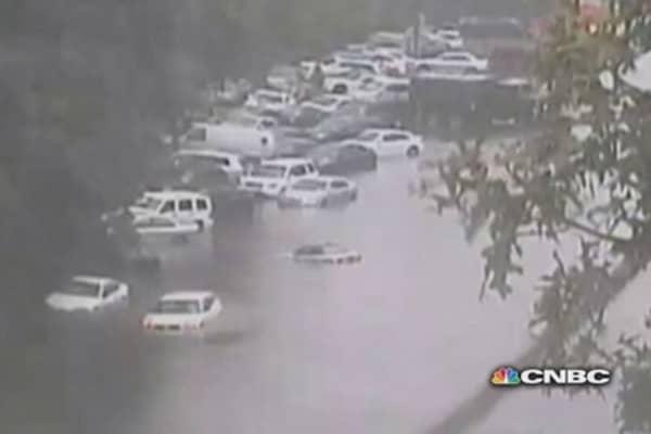 Massive flooding on Long Island