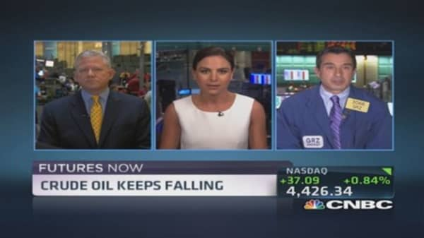 Futures Now: Crude oil keeps falling