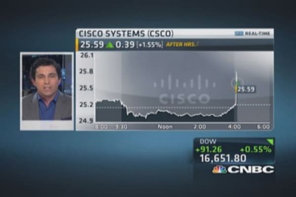 Cisco beats on top, bottom line