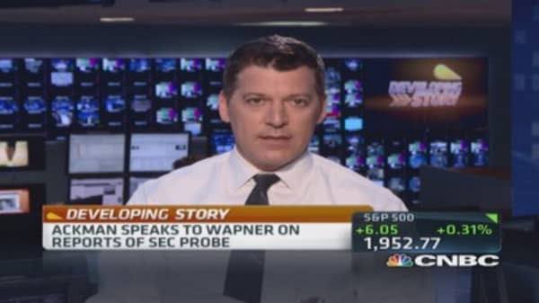 Ackman speaks to CNBC's Wapner on SEC probe reports