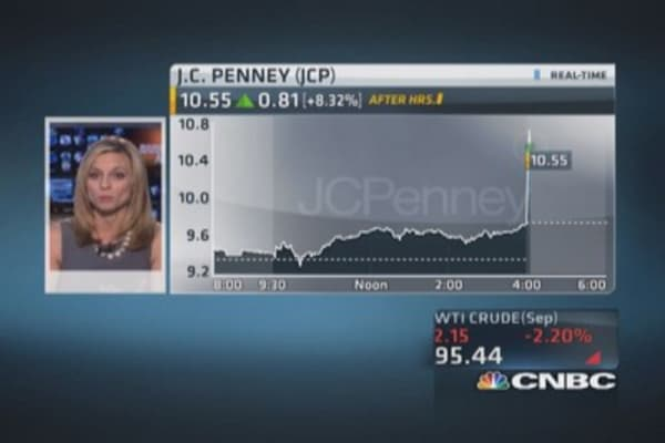 JC Penney Q2 earnings not as bad as expected
