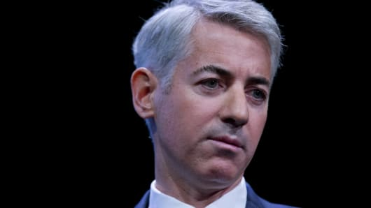 William 'Bill' Ackman, founder and chief executive officer of Pershing Square Capital Management LP, speaks during an event in New York, U.S.