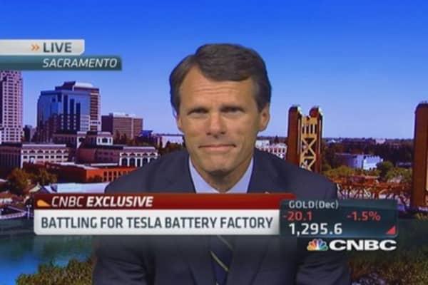 Vying for Tesla's gigafactory