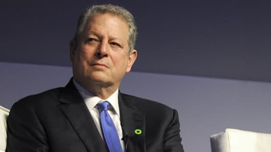 Former Vice President Al Gore addresses Climate Reality Leadership trainees, March 13, 2014, in Johannesburg, South Africa.