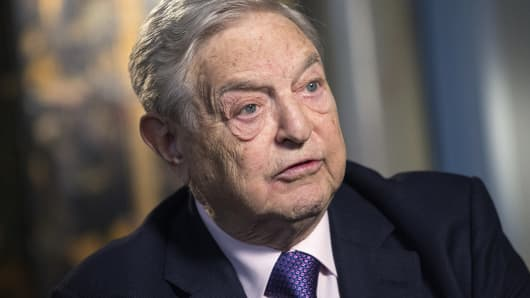 George Soros, billionaire and founder of Soros Fund Management, speaks during an interview in London in March.
