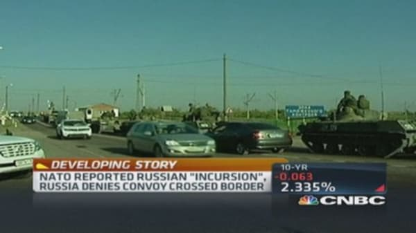 Russia denies convoy crossed Ukraine border