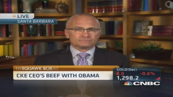 CKE CEO's beef with Obama