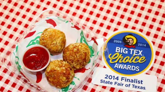 Fried Sriracha Balls at the State Fair of Texas