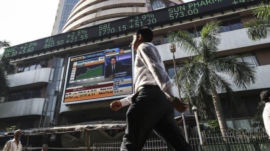 The Bombay Stock Exchange (BSE) in Mumbai, India