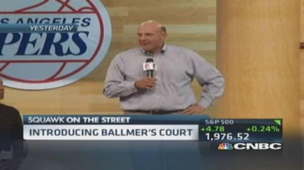 Ballmer rallies LA Clipper fans