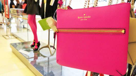 A Kate Spade handbag on display at Macy's in New York City.