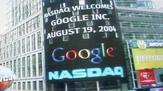 Dominoes vs google stock since ipo