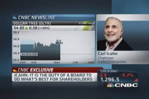 Icahn: Obvious Family Dollar wanted me out of picture