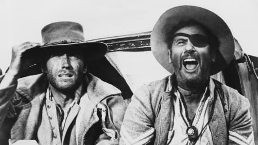 "Clint Eastwood as ""Blondie"" and Eli Wallach as Tuco in the 1966 western ""The Good, the Bad and the Ugly."""