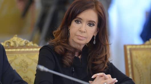 President of Argentina Cristina Fernandez de Kirchner.