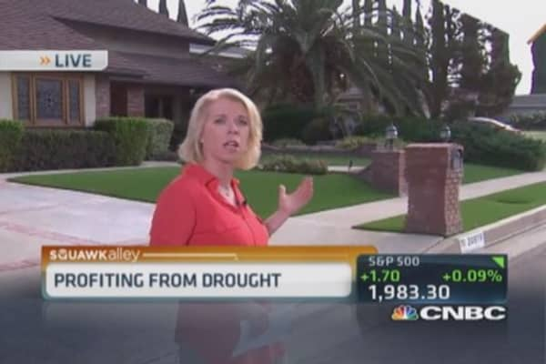 Profiting from California drought