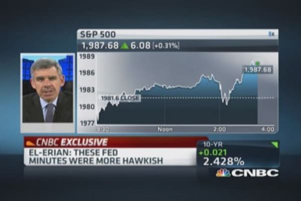 El-Erian: Minutes more hawkish than expected