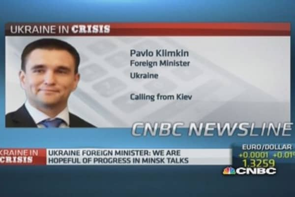 Ukraine Foreign Min on battle against separatists