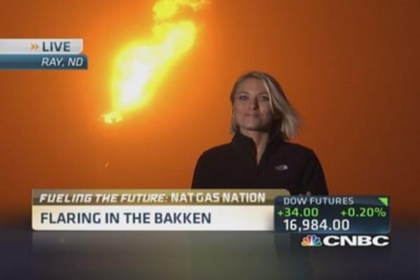 Bakken nat gas buildout 'flares' controversy