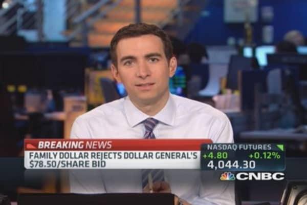 Family Dollar rejects Dollar General's bid